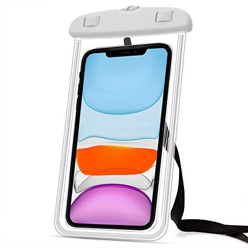 Marvorem Funda Impermeable Compatible con Xiaomi Mi Mix 3 acuatica Sumergible estanca Certificado IPX8 Bolsa Resistente al Agua Waterproof Case (Blanca)