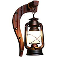 Lámpara de pared antigua china dormitorio lámpara de pared balcón retro lámpara de queroseno vintage linterna bar cafetería lámparas
