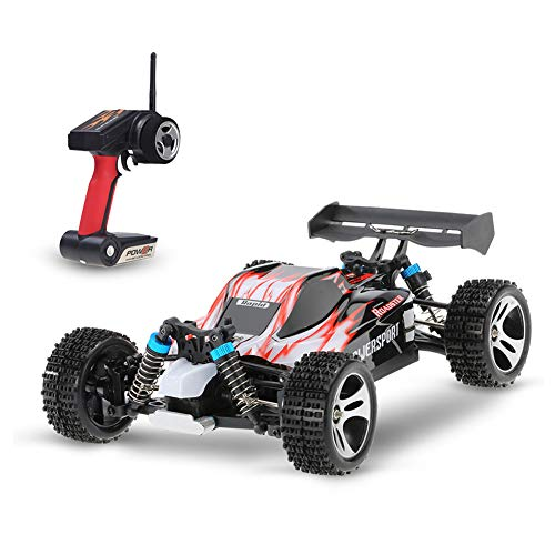 ZUOQUAN 4WD Ferngesteuertes Auto Outdoor, 1:18 Elektro Racing Truck 50 Km/H High Speed 2.4 Ghz, Elektro Auto High Speed Rennauto, Outdoor Und Indoor Fahrzeug Modell Für Erwachsene Kinder,Rot