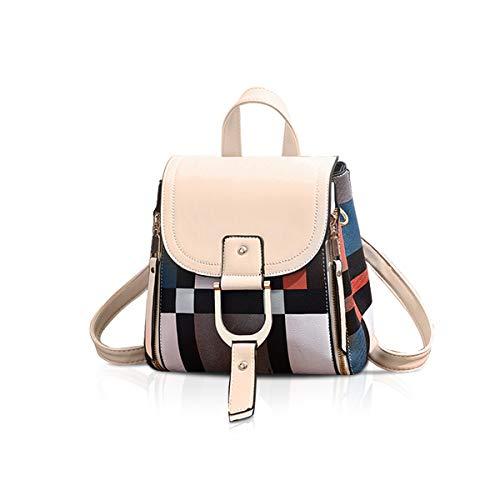NICOLE&DORIS Damen Rucksack Kleiner Rucksack Umhängetasche Handtaschen Rucksack für Damen Leder Rucksack Schultertasche Beige