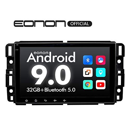 2020 Car Stereo Double Din Car Stereo,Android Head Unit Android 9.0 Eonon Car Stereo for Chevy/Chevrolet Silverado 8 Inch Car Radio Support Carplay/Android Auto/Bluetooth 5.0/Fast Boot/DVR-GA9380