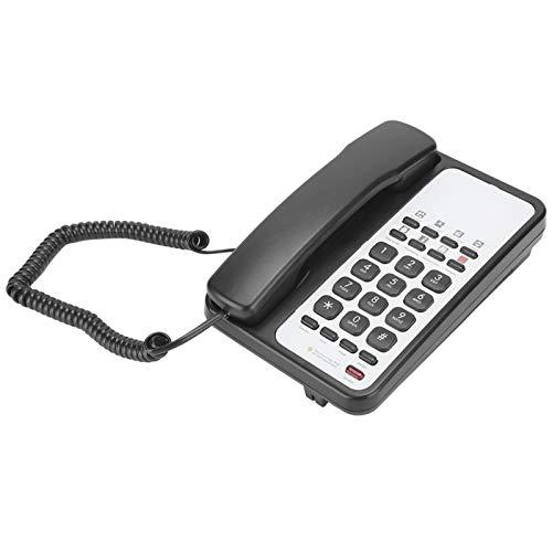 Zunate Teléfono Fijo, Rellamada Manos Libres Rellamada automática Oficina Teléfono Fijo doméstico Escritorio y Pared Hotel Teléfono Fijo Teléfono Fijo Equipo de comunicaciones(Negro)