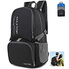 ▶ Large Capacity & Organized(30 liters, 13 pockets) - 30L of storage rucksack and more than 10 pockets,no problem fitting everything inside this roomy foldable travel backpack.One main compartment with two spacious section to hold you clothes, and tr...