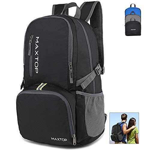 MAXTOP 30L Ultra Lightweight Packable Backpack Foldable Rucksack Water Resistent For Men Women Kids Outdoor Camping Hiking Travel Daypack Handy Durable Gifts For Men Women