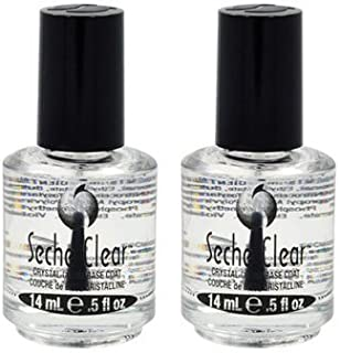 Lot 2 Seche Clear Base Vite Coat Salon Quality Nail Treatment Polish Crystal Dry