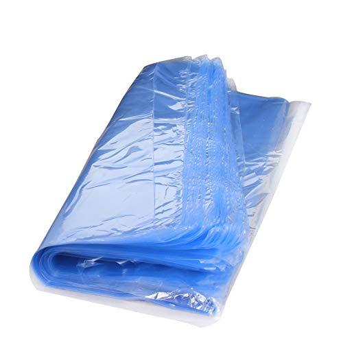 Othmro Schrumpfbeutel, PVC-Schrumpfbeutel, 30 x 40 cm, Schrumpffolie, industrielle Verpackung, Versiegelungsbeutel, Hellblau, 100 Stück