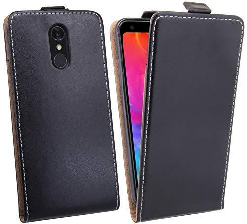 cofi1453 Klapptasche Schutztasche Schutzhülle kompatibel mit LG Q7+ (Plus) Flip Tasche Hülle Zubehör Etui in Schwarz Tasche Hülle
