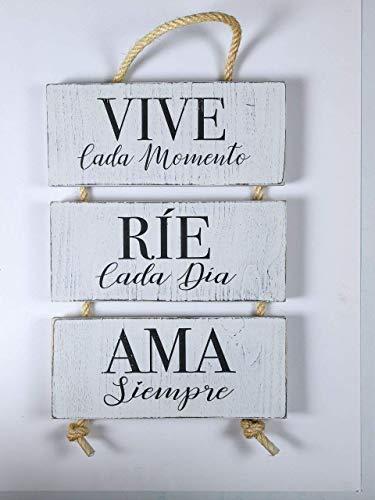 Cuadro de Madera. Mensajes Positivos e Inspiradores para, regalar, compartir y disfrutar. Ideas y consejos para la decoración. de tu hogar.