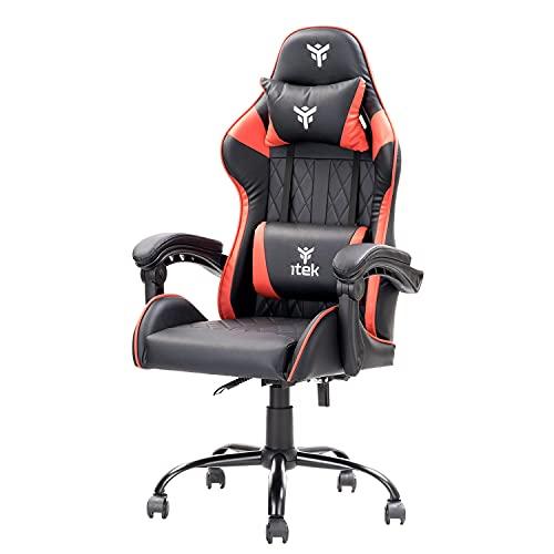 Itek Gaming Chair Rhombus PF10, Cloruro de polivinilo, Normale