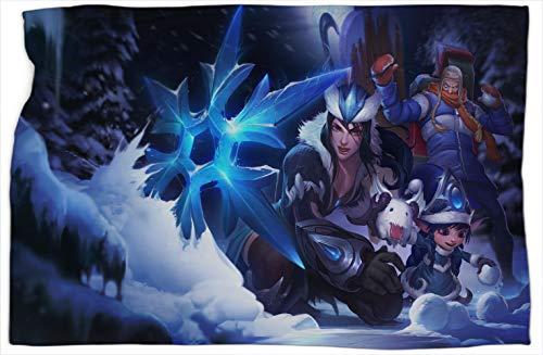 Snowdownshowdown League Legends - Manta térmica de algodón con estampado de leyendas (152,4 x 203,2 cm)