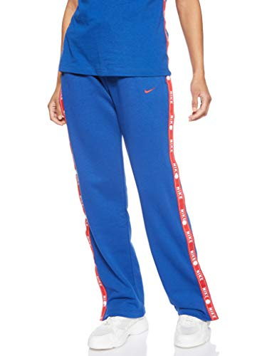 Nike Damen Sportswear Pant Logo Tape Popper Jogginghose, Blau (Indigo Force/438), Gr. XS