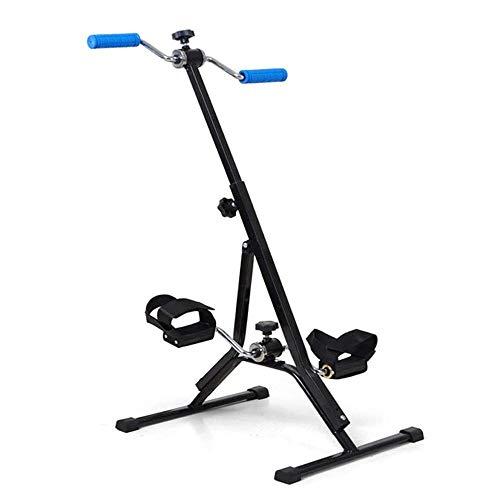 Multifuncional Mini Bicicleta estática, con dos pedales for piernas y brazos, Ejercicio Bicicletas Interior, ejercitador de piernas gimnasia de entrenamiento cardiovascular entre mujeres y hombres