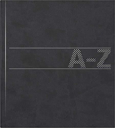 Brunnen Schuppen - Agenda telefónica y de direcciones (384), encuadernación blanda, 210 x 148 x 10 mm, color negro
