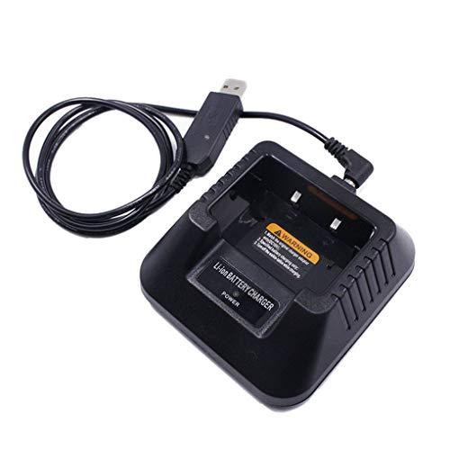 Diamoen UV5R USB reemplazo Cargador de batería para Baofeng UV-UV5R 5RE DM-5R portátil de Radio de Dos vías walkie Talkie