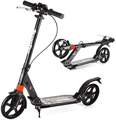 WJJ Patinetes Para Niños Montar portátil al aire libre-kick scooter plegable for adultos scooter con freno de mano, grandes ruedas de doble suspensión del viajero Scooters, con altura ajustable - Apoy