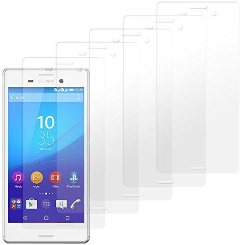 moodie Bildschirmschutzfolie für Sony Xperia M4 Aqua [5 Stück] Premium Folien Kristallklar mit Anleitung für Sony Xperia M4 Aqua