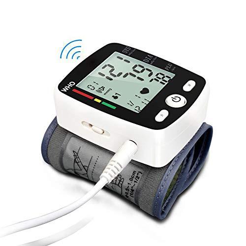 HLKJ Blutdruckmessgerät, Oberarm-Blutdruckmessgerät USB Aufladbare Mit Großem LCD-Display Misst Blutdruck Und Puls-Impuls Für Die Gesundheitsüberwachung