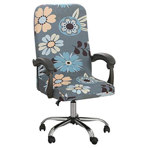WOOAI Misura Office Elastic Spandex, rivestimento per sedia da ufficio, rivestimento rimovibile per sedia da ufficio, M/L, A1, L 70-80 cm