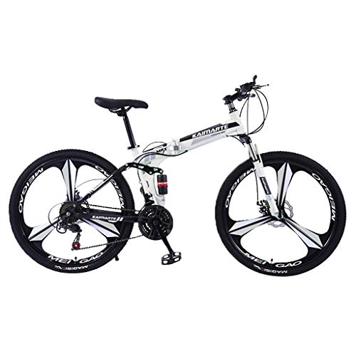 SHUANGA 26in Carbon Stahl Mountainbike 21 Speed Bicycle Full Suspension MTBFarbräder Gang-Schaltung, Gabelfederung, Jungen-Fahrrad & Herren-Fahrrad
