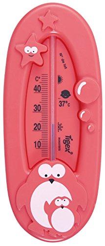 Tigex Termómetro de baño | Termómetro bebe | Diseño pingüino | Rojo
