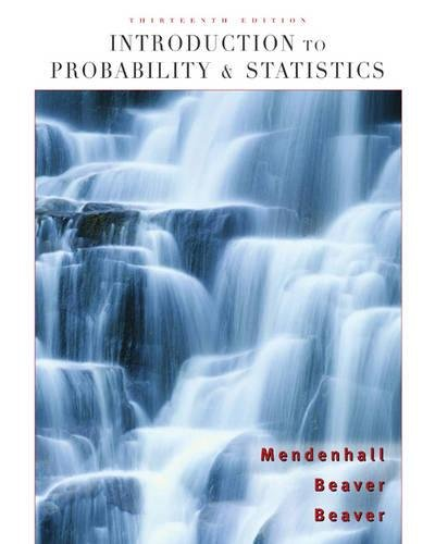 Introduction to Probability and Statistics (Available 2010 Titles Enhanced Web Assign)