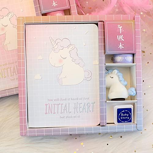 MLOPPTE Caja de regalo de cuenta manual,Manual Kitty Bloc de notas Bloc de notas Agenda Juego de libros Papelería escolar Material de oficina 9