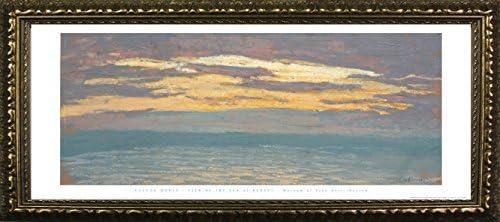 Buyartforless Japan's largest assortment Work Framed View of The Monet Pri Claude 12x36 Sea Ranking TOP4