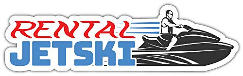 Jet Ski Verhuur Bumper Sticker Vinyl Art Decal voor Auto Truck Van Window Bike Laptop