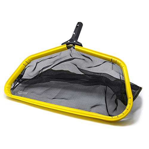 PoolDozer Pool Skimmer Net, Leaf Rake Catcher, Water Cleaner with Reinforced Deep Mesh Skim Bag Cleaning Tool