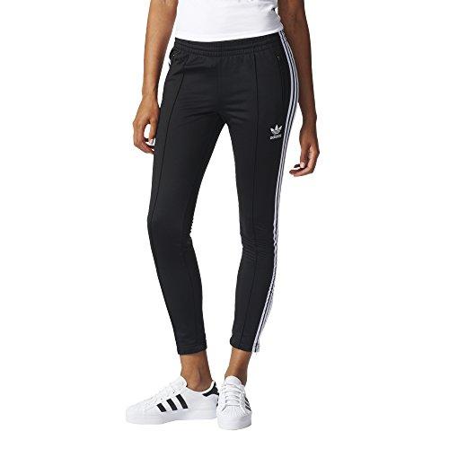 adidas Originals Damen Superstar Track Pants Jogginghose, schwarz/weiß, Klein