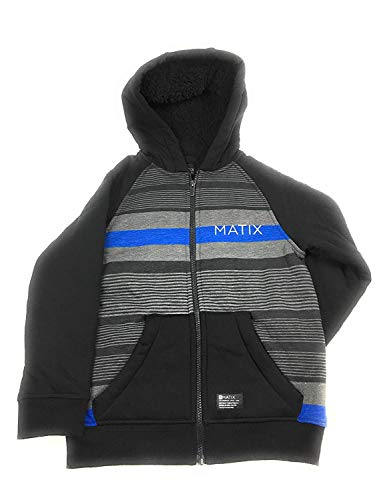 Matix Boys' Zip-Up Fleece Hoodie (BT Royal Combo, Small)