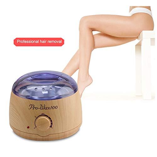 Wachs-Wärmer Haarentfernung Kit, 500 Ml Elektro-Epilation Heater Pot, Fast Heizung Wachsen Bohnen Painless Haarentfernung,Gelb