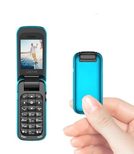 L8star Kleines Mini Flip Handy SIM+TF-Karte MP3 Magic Voice Changer Bluetooth Dialer Musik Handy BM60