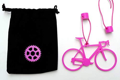 Aviso de portabicicletas Colgante recordatorio de bici a bordo para coche personalizable e imantado