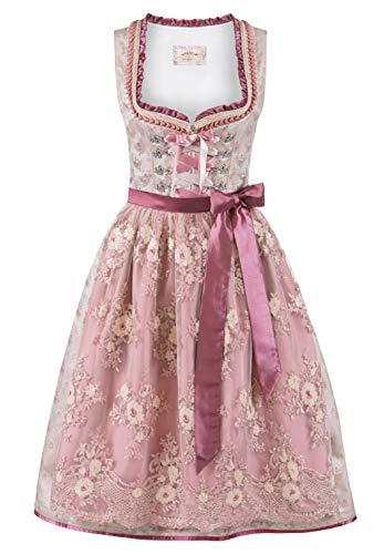 Stockerpoint Damen Dirndl Avina Kleid für besondere Anlässe, Taupe-Altrosa, 40