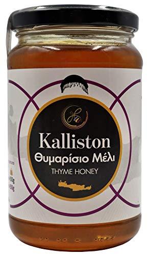 Kalliston Griechischer Thymianhonig aus Kreta von Apicreta | Natürlicher unvermischter Kretischer Honig (450g)