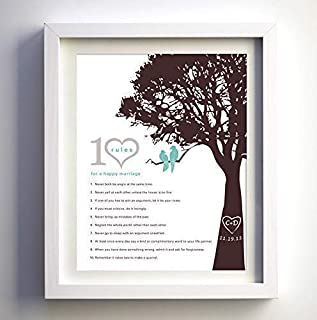 love birds in a tree wedding invitations