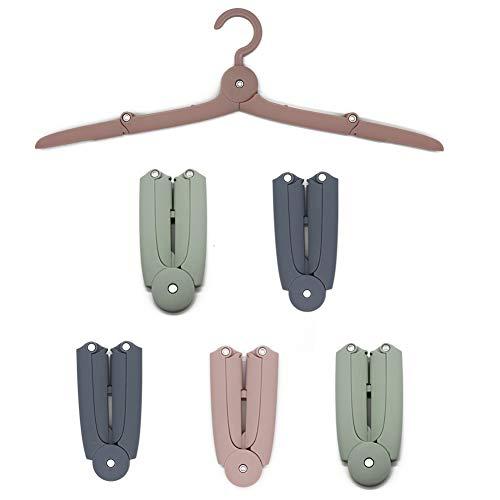 JSF Faltbare Kleiderbügel Aufhänger aus Kunststoff Gegen Wind für Reise, Outdoor, Camping und Haushalt (6er Set)
