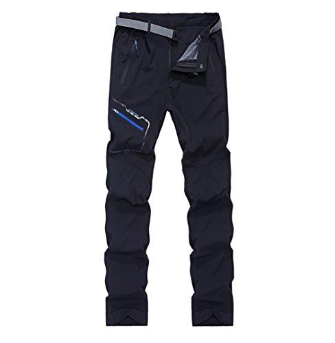 GITVIENAR Pantalon d'alpinisme Séchage Rapide Mince Respirant Élastique Pantalon de Sport Homme pour Activités Extérieurs Pantalon Stretch Pritemps Été