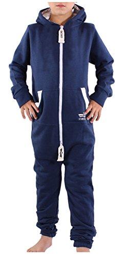 Finchkid 81V4 Kinder Jumpsuit Overall Jogger Anzug Onesie Navy 0-3 Monate