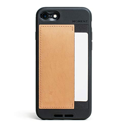 Moment Wallet iPhone 7/8 Case - Slim, Credit Card Carrying, Wrist Strap Friendly Case for Photography and Camera Lovers (Premium Tan Leather)