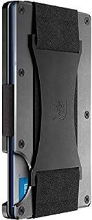 The Ridge Wallet Authentic | Minimalist Metal RFID Blocking Wallet - Cash Strap | Slim Wallet for Men