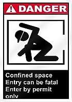 屋外の閉所での立ち入りのためのパーソナライズされた金属看板は致命的である可能性があります危険看板、壁プラークポスターカフェバーパブビールクラブ壁の家の装飾