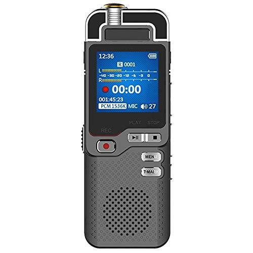 Yunbai Grabadora de sonido de audio de alta definición de grabación del dictáfono grabadora de voz digital grabadora de voz digital, Digital Voice Activated ruido grabadora Mini dictáfono ADC de contr