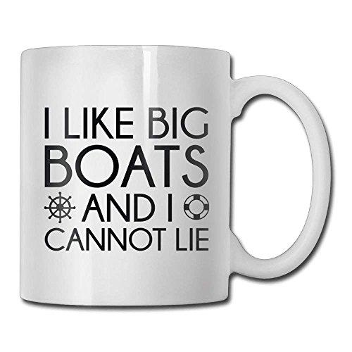 N\A Me Gustan los Barcos Grandes y no Puedo mentir Taza de café Regalos de cerámica para mamá de los Hombres Taza de té Familia y Amigos