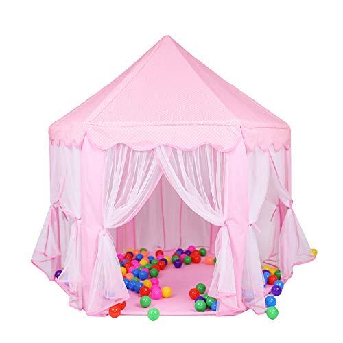 Tipi tent voor kinderen Princess Castle Amusement Tent Kids Playhouse Met Tent Toys Indoor En Outdoor Games Gebruik binnen en buiten (Color : Pink)