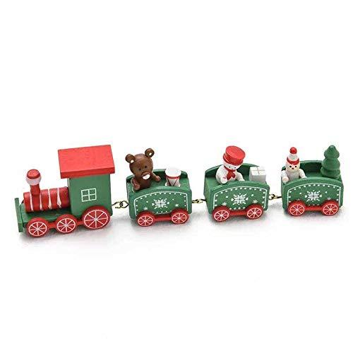 thematys Holz-Eisenbahn Weihnachtszug in 3 verschiedenen Designs - die perfekte Weihnachts-Deko für gemütliche Weihnachtsstimmung (Grün)