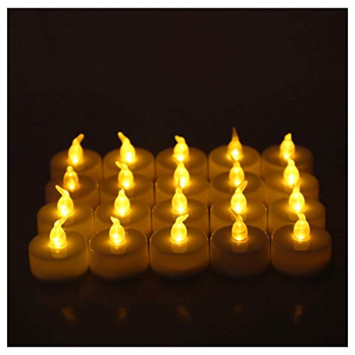 24 piezas de luces LED de té con pilas, velas sin llama, pa
