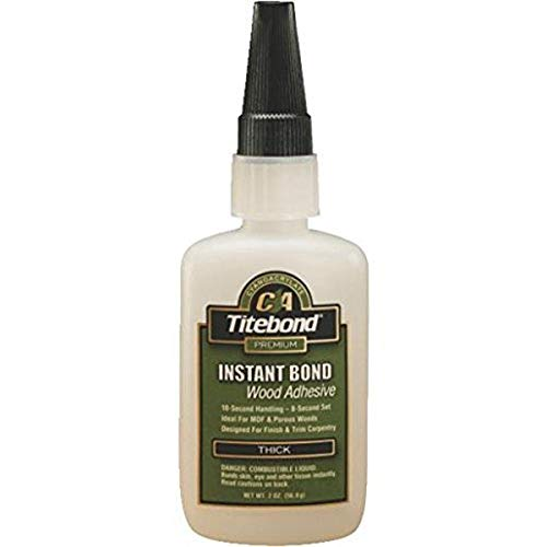 Titebond Instant Bond Wood Adhesive Thick, 2 oz.