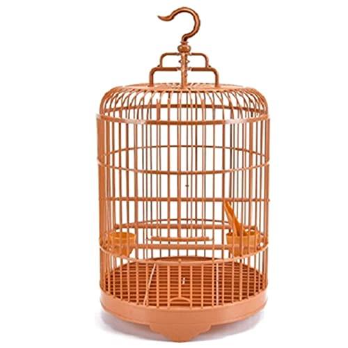 Jaula Pájaros Jaula de pájaros Redonda con alimentador Conjunto Completo Pájaro Pájaro Pájaro Cause Portador de Aves para pájaros pequeños Ventilación Integral Puede ser Separado Jaula